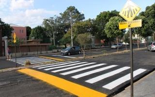 As travessias trouxeram mais segurança para pedestres e veículos (foto: Marco Cavalcanti)
