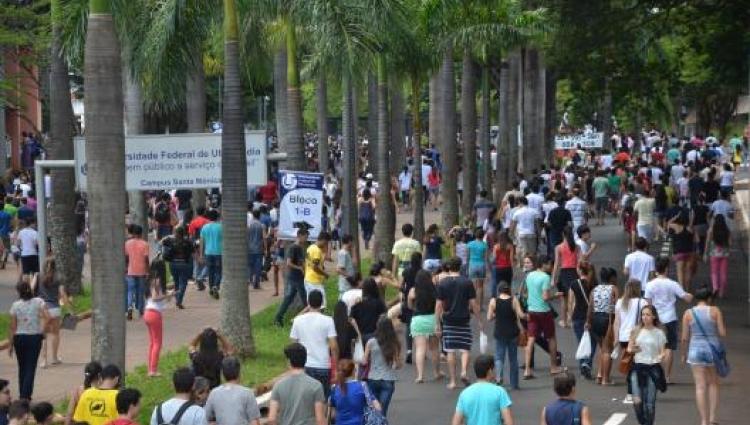 Os concorrentes às vagas da UFU podem escolher entre 89 opções de cursos (foto: Milton Santos)