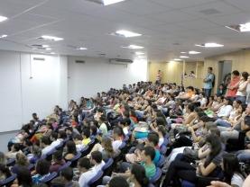 Recepção aos Ingressantes no Campus Pontal (Foto: Arquivo Facip)